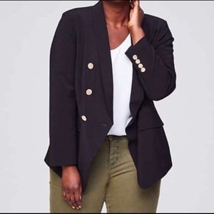 LOFT Black Double Breasted Blazer